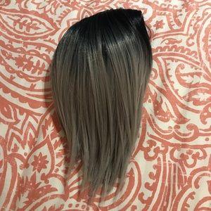 Synthetic Black to Gray Ombré Bob Wig